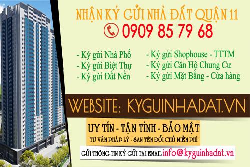 Ký gửi nhà đất tại Quận 11 TP.Hồ Chí Minh